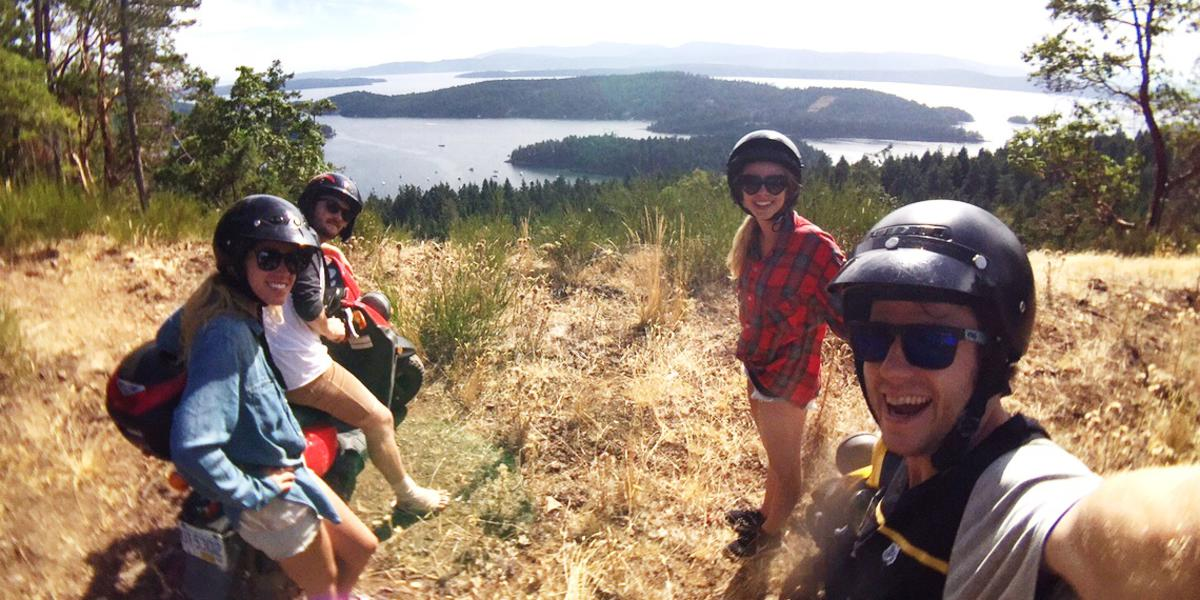 Stunning viewpoints throughout Galiano Island atop ridges of wildflowers