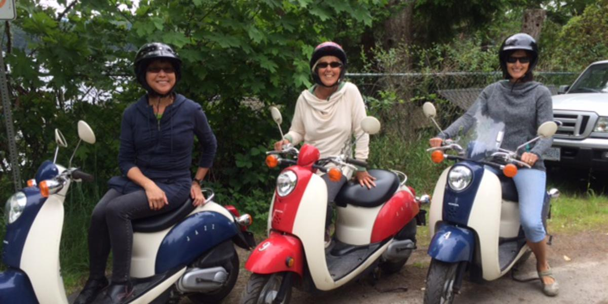 Rent a moped or eBike with your friends or family. The adventure continues...