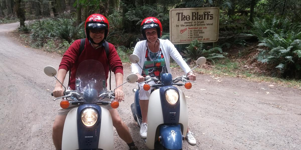 Visitors from all over the globe enjoy riding a moped