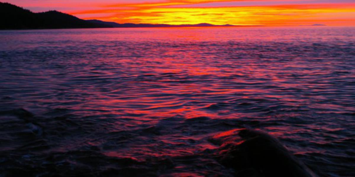 Sunsets are spectacular on Galiano Island